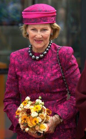 HM Queen Sonja of Norway opens the exhibition 'Munch: Van Gogh' at the Van Gogh Museum in Amsterdam