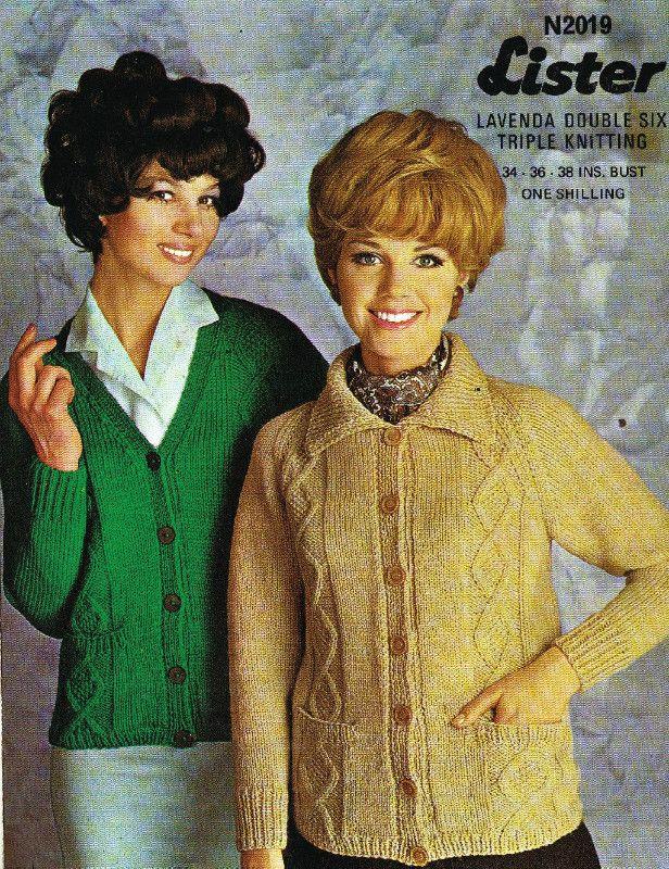 54cc7d63f Lister 2019 cardigan ladies vintage knitting pattern Listing in the Ladies  DK