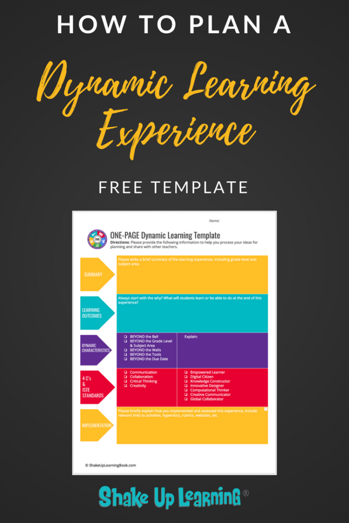 How To Plan A Dynamic Learning Experience Free Template Learning Template Lesson Plan Template Free Technology Lesson