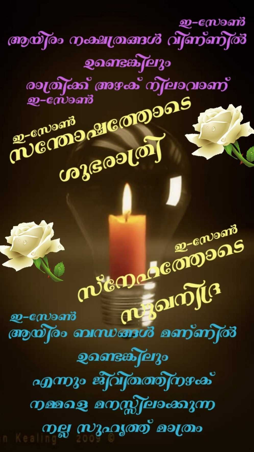 Pin by Eron on Good Night ( malayalam ) | Good night quotes, Good morning greetings, Good night messages