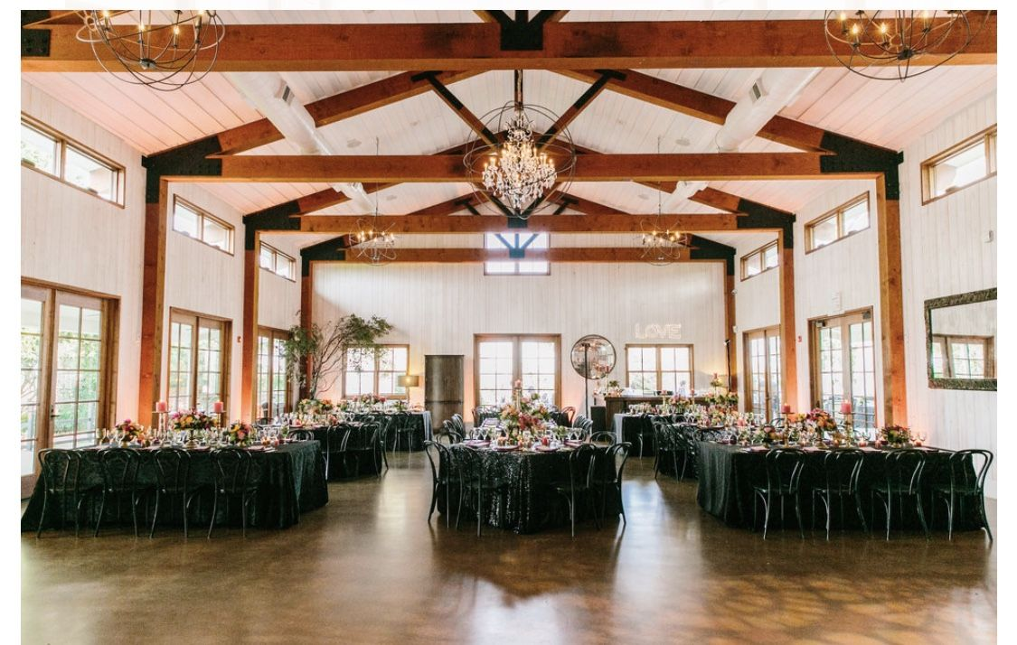 Inside of venue where reception will take place | Vineyard ...