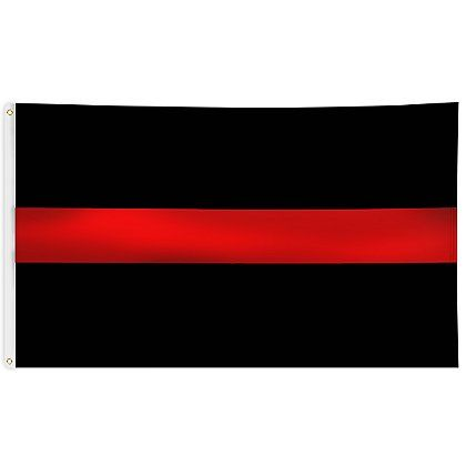 White FIRE POLICE on Red Background FIRE POLICE Identification Decal// Sign