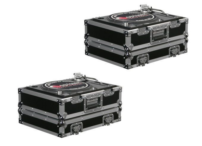 awesome (2) Odyssey FR1200E ATA Flight Ready Pro DJ Equipment Turntable Transport Cases