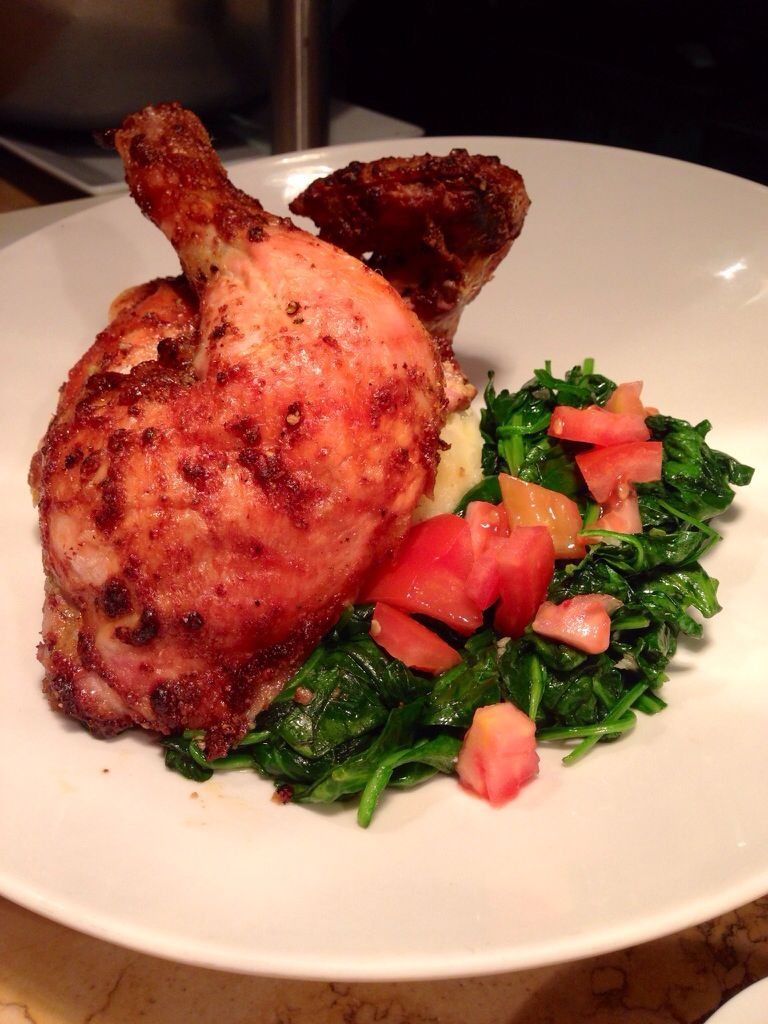 Petaluma Chicken at Vines Restaurant & Bar