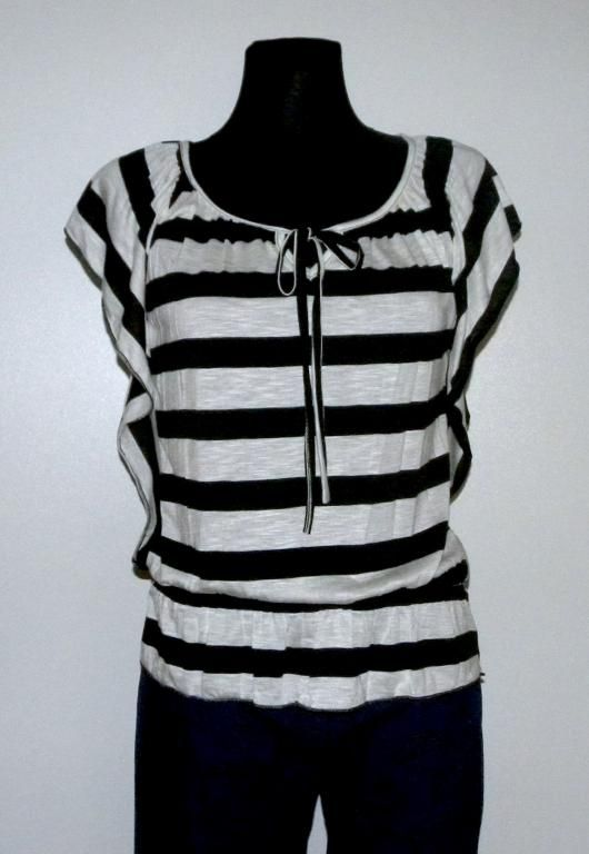 Super Modna Bluzka Tunikaz Falbanka L Nowosc Women S Top Tops Striped Top