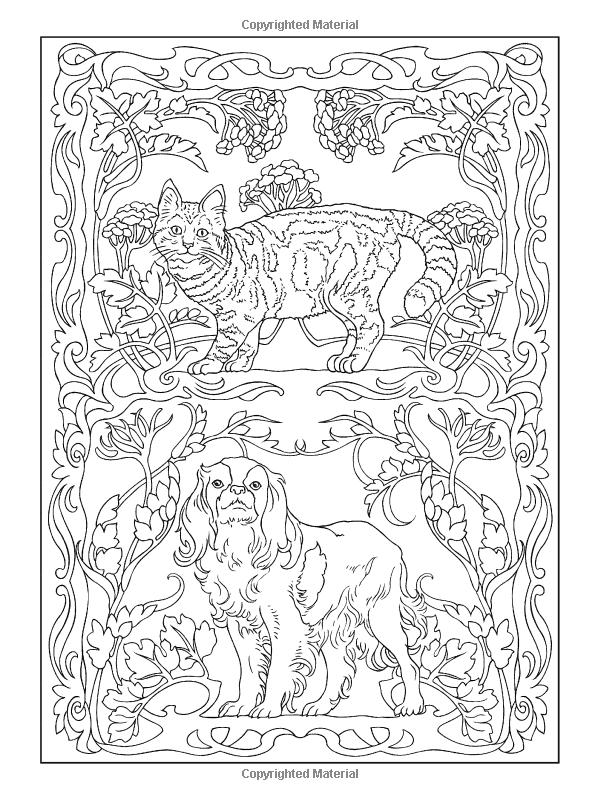 Creative Haven Art Nouveau Animal