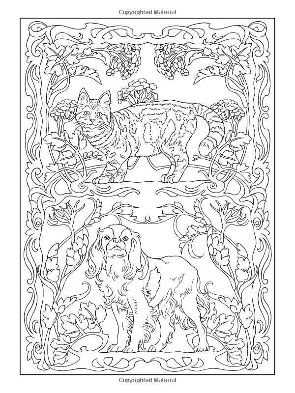 Creative Haven Art Nouveau Animal Designs Coloring Book (Creative ...