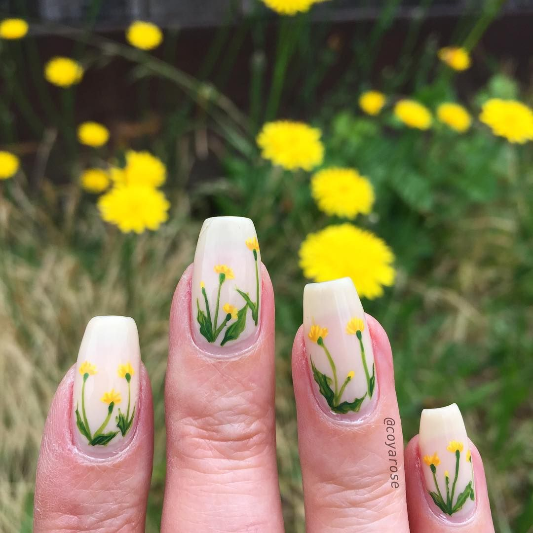 Did you miss my wild flower nails well here are some cute little