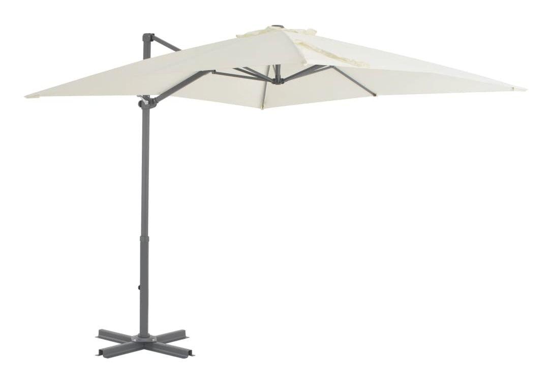 Parasol En Porte A Faux Et Poteau En Aluminium 250x250 Cm Sable Vidaxl Patio Outdoor Outdoor Decor