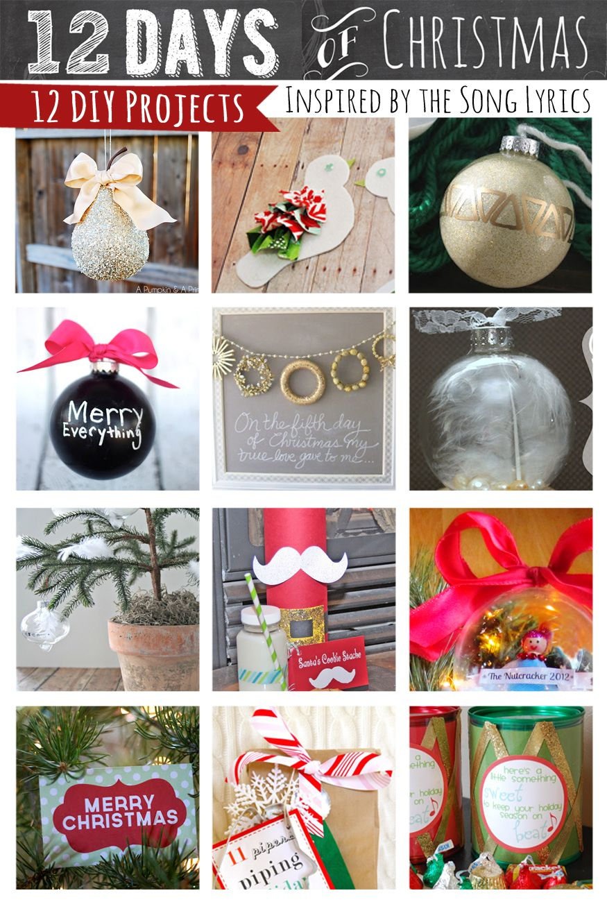 12 Days of Christmas Holiday projects
