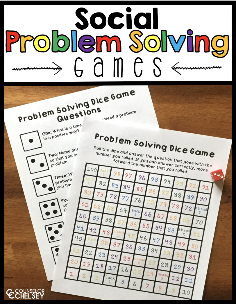 Social Problem Solving Games Counselor Chelsey Simple School Counseling Ideas Problem Solving Activities Coping Skills Activities Problem Solving