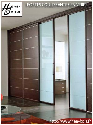 Portes en verre Hen Bois à Caen, LE spécialiste de la porte en - porte coulissantes sur mesure