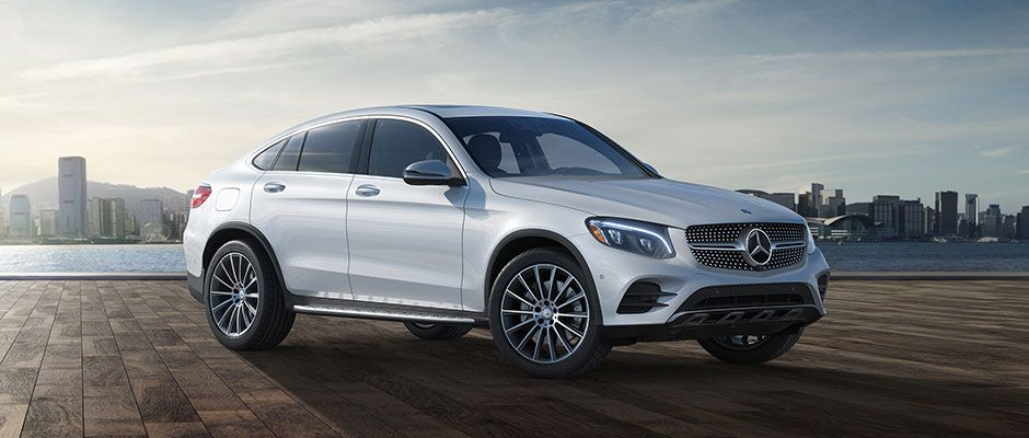 Mercedes Glc Coupe In Diamond White With Exterior Sport And