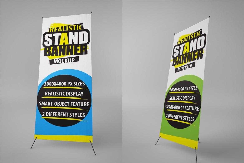 stand banner mockups mock