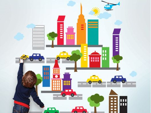 City Wall Stickers.