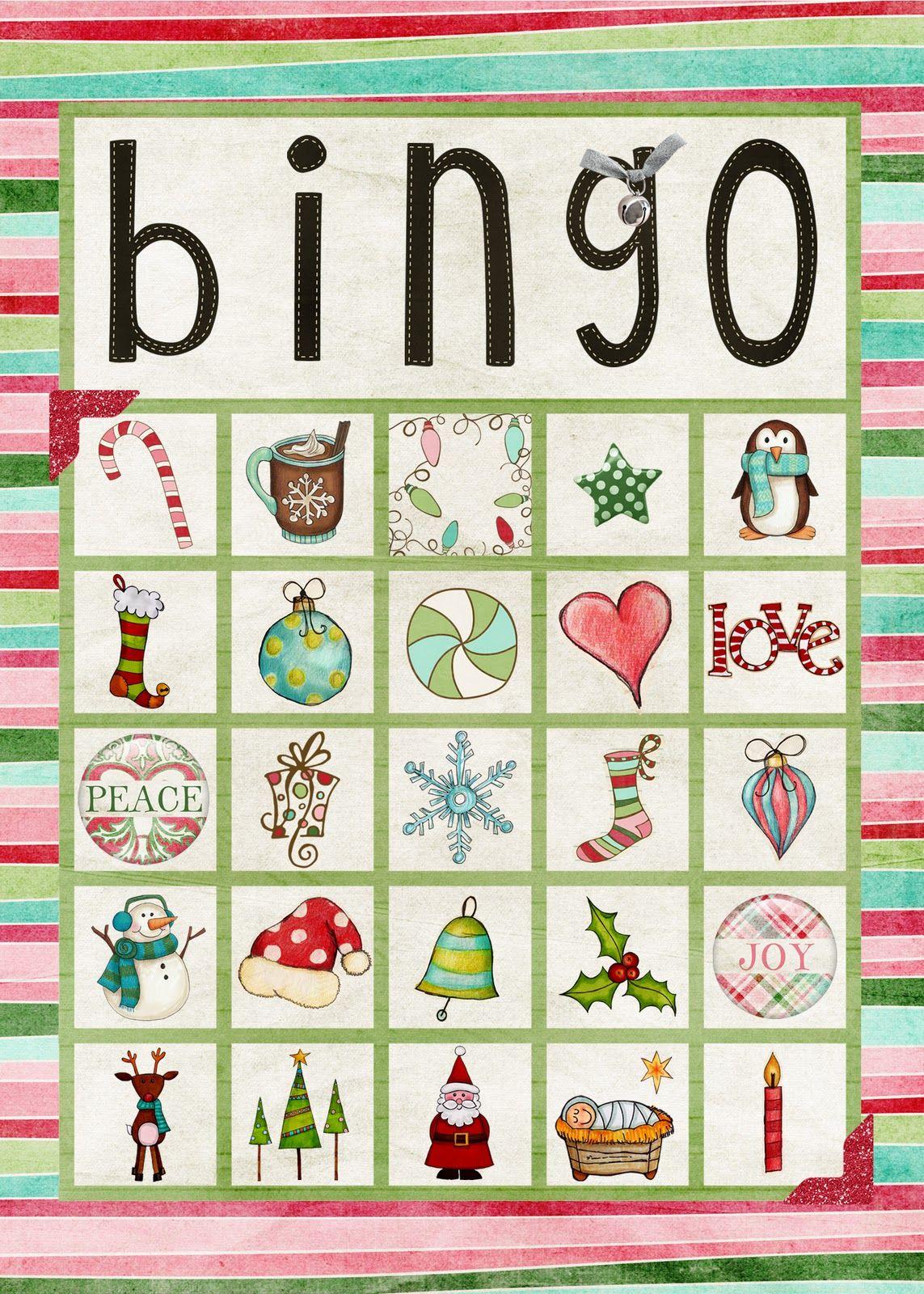 Creatively Content Printable Christmas Bingo