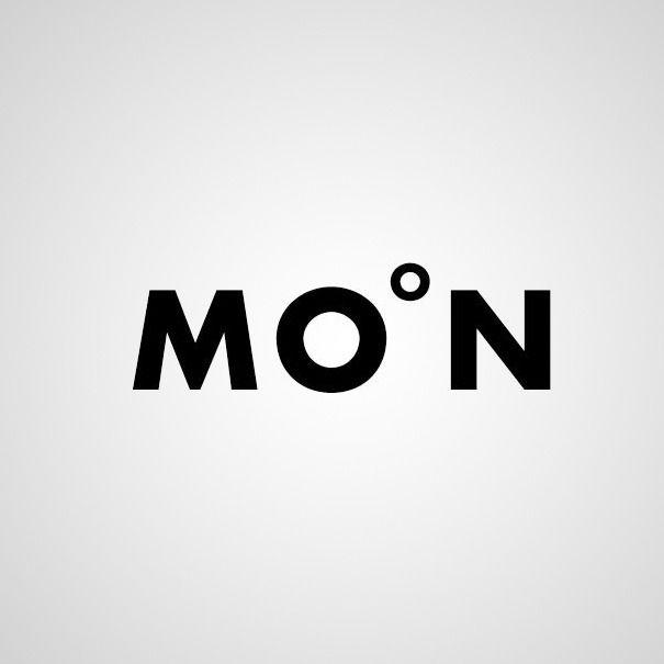 Moon - Word as Image by Ji Lee