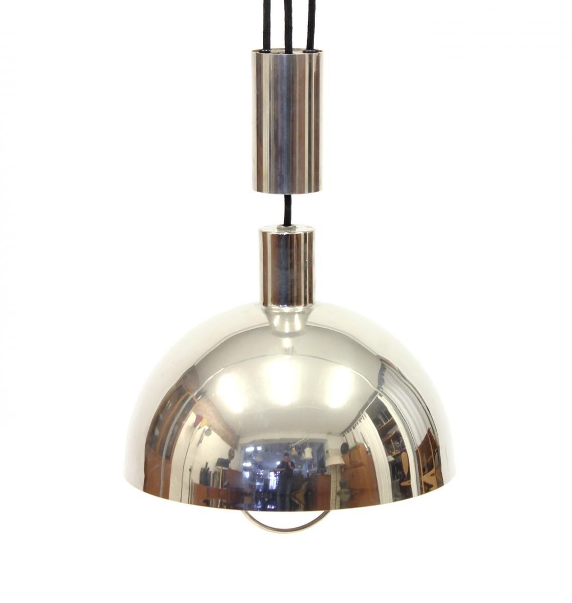 Bauhaus pendant lamp marianne brandt and hans przyrembel 1925 - Vintage Bauhaus Counter Weight Pendant By Marianne Brandt For Tecnolumen 1980s 1