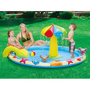 """Summer Escapes 7'7"""" x 5'4"""" Inflatable Beach Play Center"""