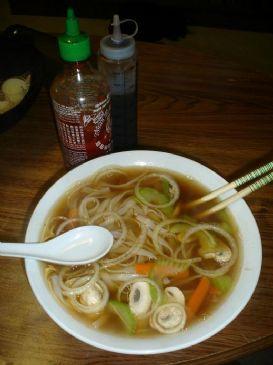 Pho Chay Vegetarian Vietnamese Rice Noodle Soup Recipe Rice Noodle Soups Recipes Food