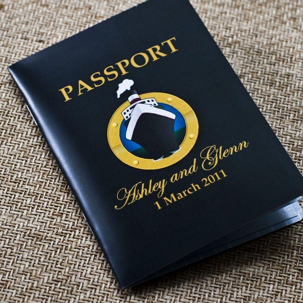 passport wedding invitation design fee (cruise ship wedding, Wedding invitations