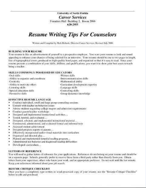 Professional Resume Writing Tips -    topresumeinfo - sample of resume skills and abilities