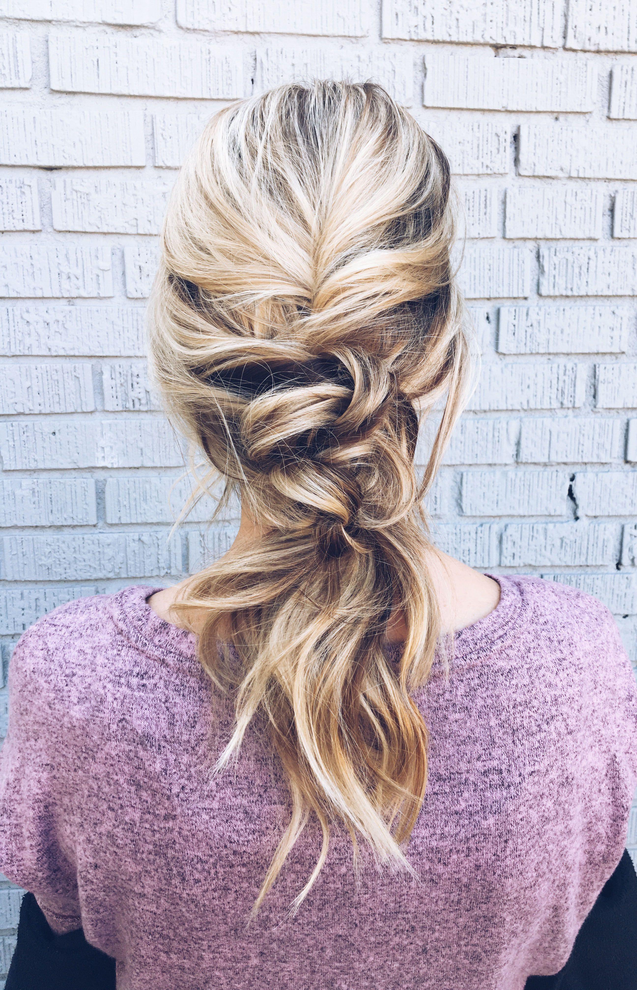 Twisted Low Ponytail, wedding hair, bridal hair, updo, knotted ponytail, ponytail hairstyle, low ...