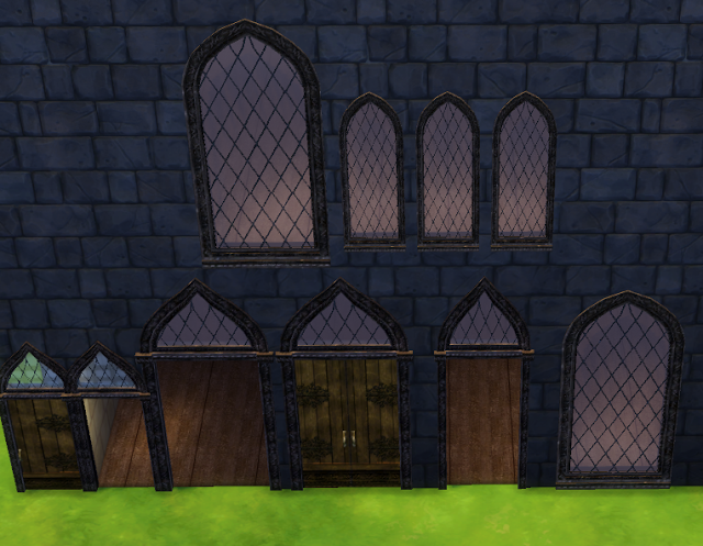 Harry Potter Häuser Sims 4 Cc's - The Best: Gothic Windows And Doors By