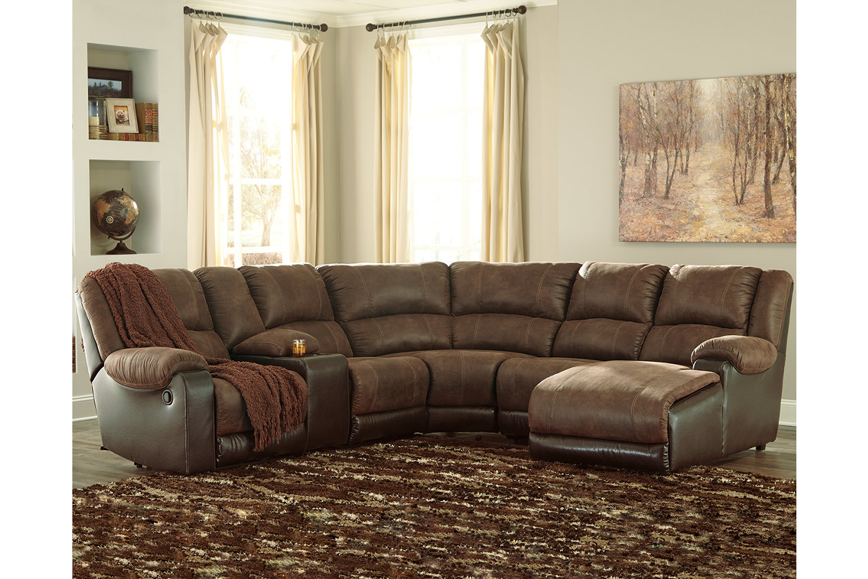 Enjoyable Nantahala 6 Piece Reclining Sectional With Chaise Products Theyellowbook Wood Chair Design Ideas Theyellowbookinfo