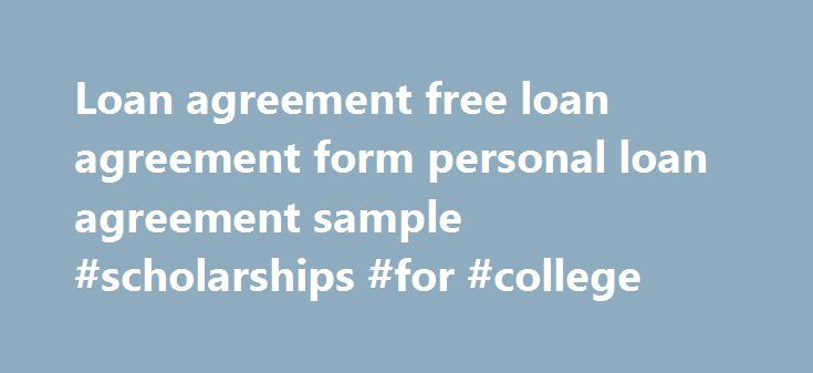 Loan agreement free loan agreement form personal loan agreement - personal loan document free