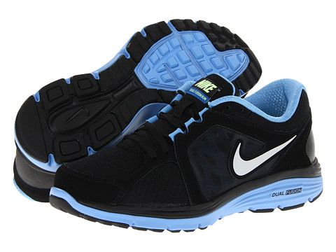 Nike Dual Fusion Run Blue Glow White Matte Silver Metallic Silver -  Zappos.com Free Shipping BOTH Ways aa58f6ff8
