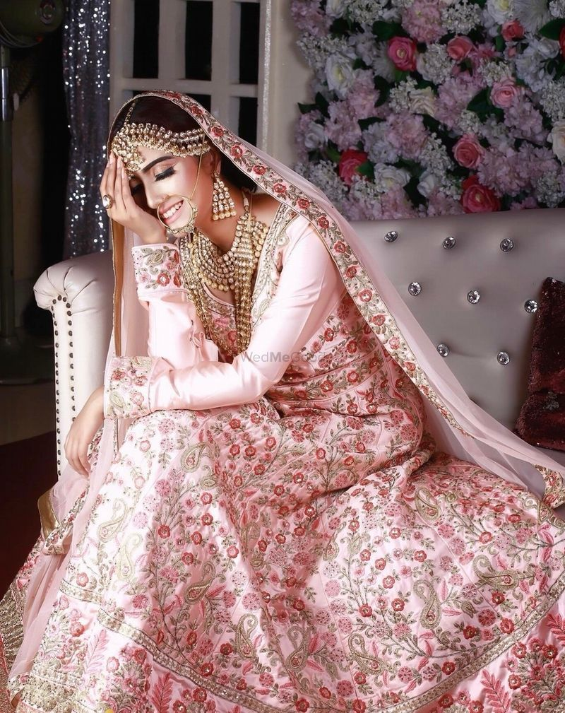 Gorgeous Floral Pink Lehenga For An Indian Wedding See More On Wedmegood Com Wedmegood In Wedding Lehenga Designs Indian Wedding Dress Indian Bridal Fashion