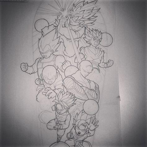 Dessin Dragon Ball Z Dragon Ball Art Dessin Tatouage Tatouage