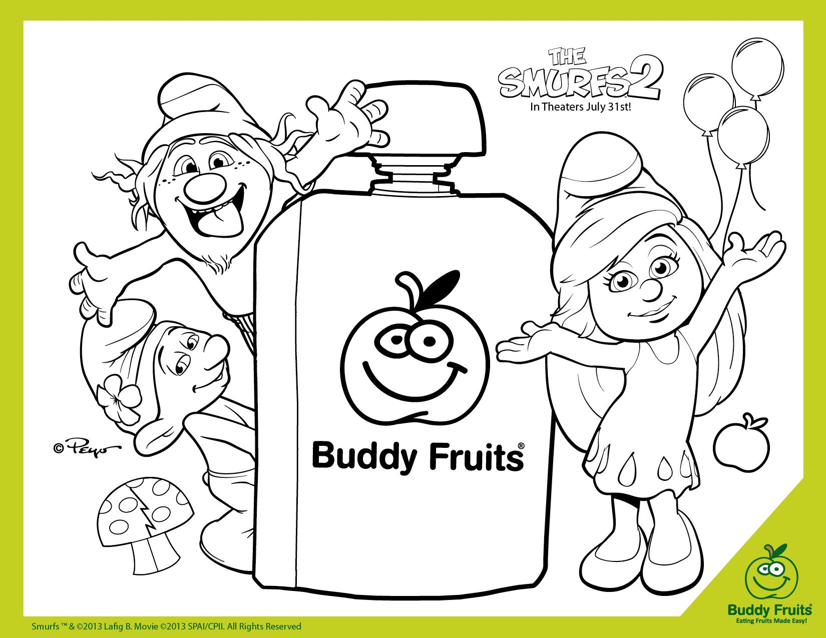 Free Printable The Smurfs 2 Coloring Page Printable Coloring