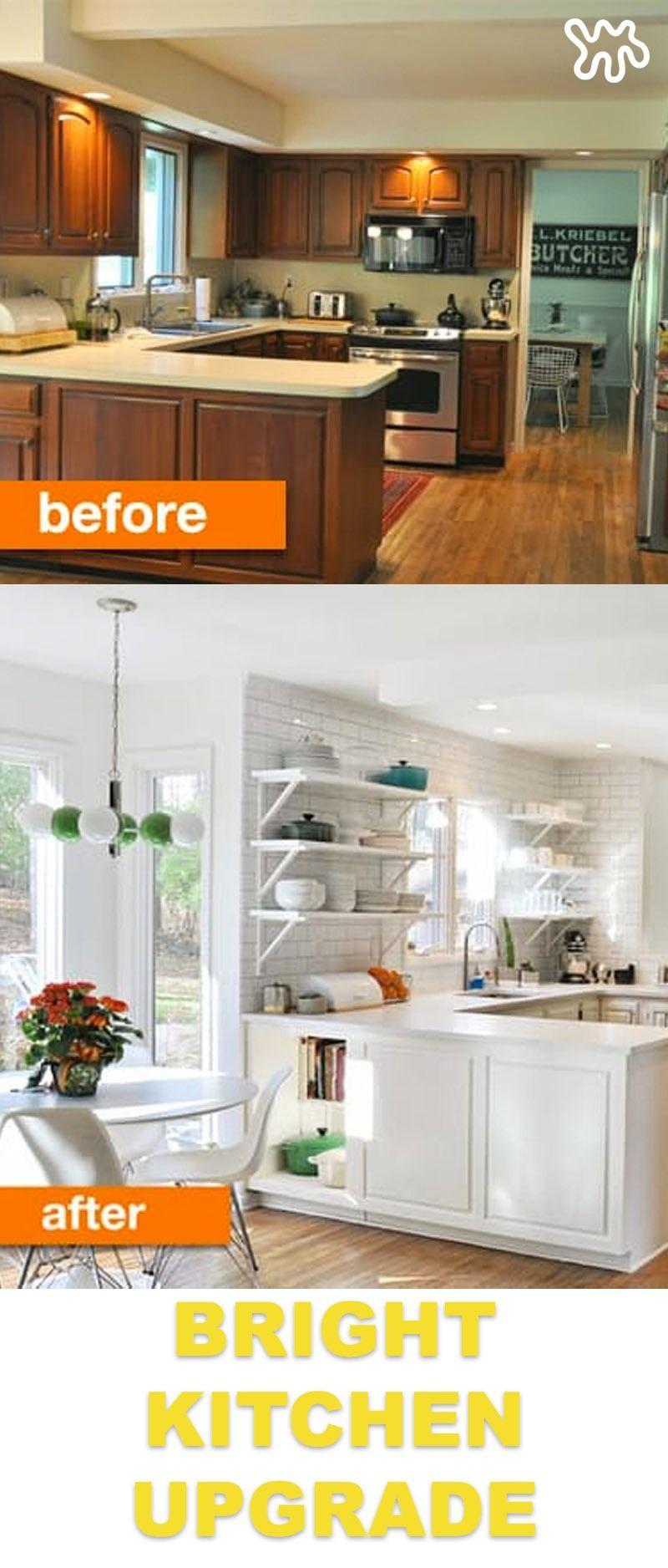 Before & After: Kim\'s Bright and White Kitchen Update | Küchen ...