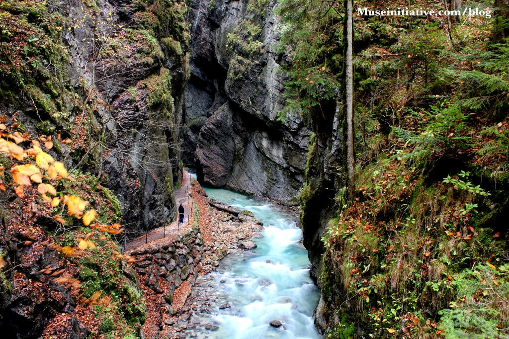 beautiful partnachtklam- a gorge in Germany