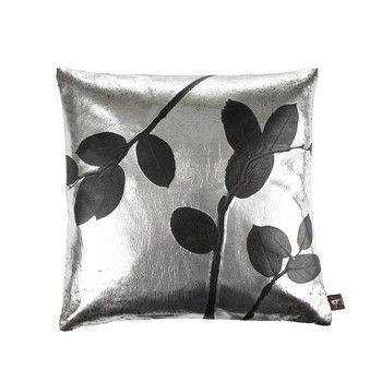 Leaf Rockstar Vinyl Cushion - 50x50cm - Silver