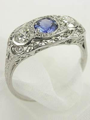 Antique Edwardian Filigree Ring, RG-1403