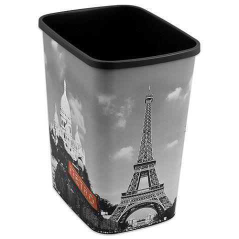 Decorative Paris Trash Can Bedbathandbeyond