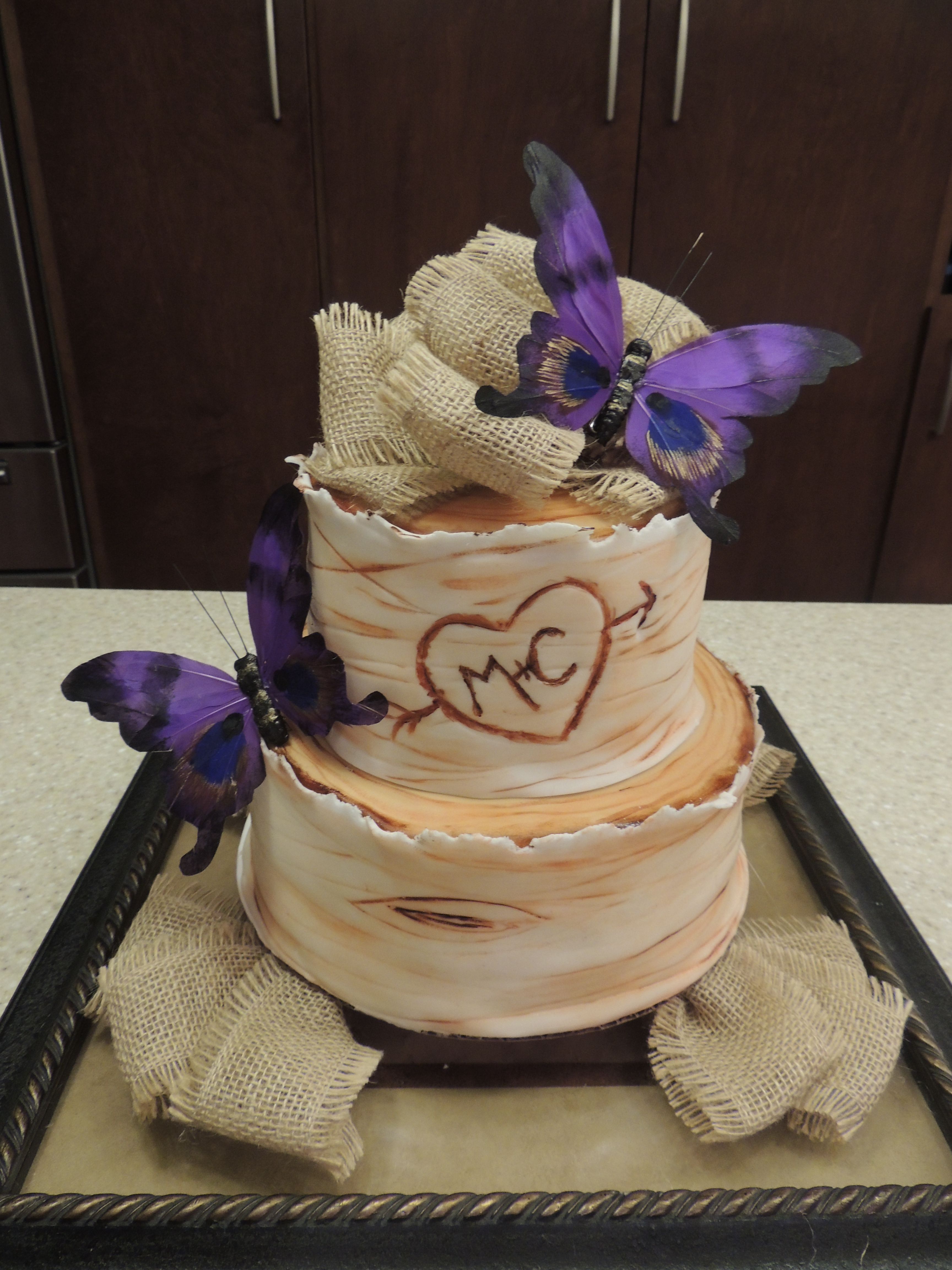 Rustic Bridal Shower Cake The One Buttercream