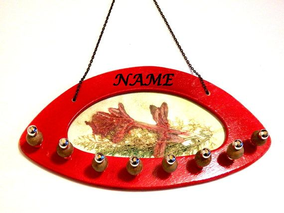 Personalized Hanging Engraved Jewelry Wall Organizer Gift Jewelry