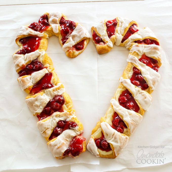 Try this festive candy cane danish cherry cheese pastry in the try this festive candy cane danish cherry cheese pastry in the shape of a candy cane forumfinder Image collections