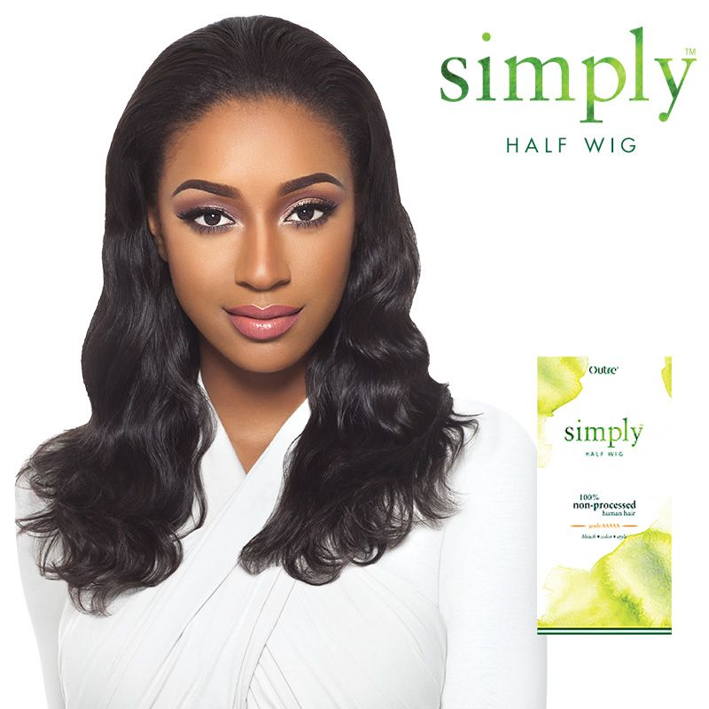 Outre Simply Non Processed Brazilian Human Hair Half Wig Quick Weave Natural Wave Samsbeauty
