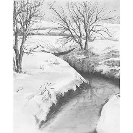 Sketching made easy winter creek
