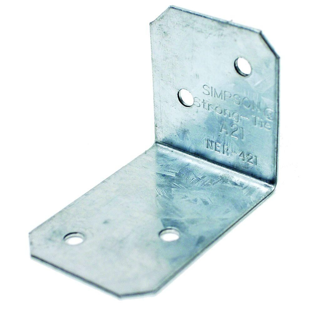 Simpson Strong-Tie 18-Gauge Galvanized Steel Angle | Home Depot ...