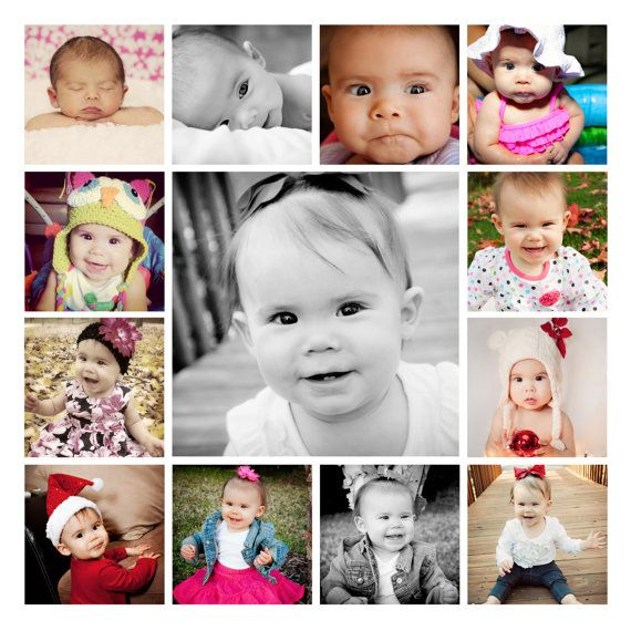 20x20 Canvas Collage Baby Photo Collages Canvas Collage Baby Picture Frames
