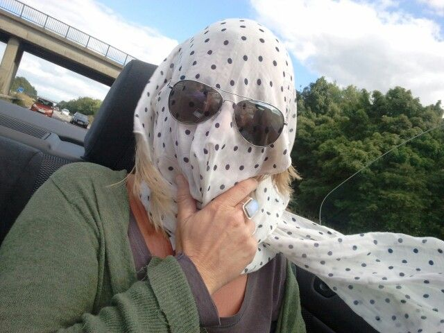 New convertible car head gear!