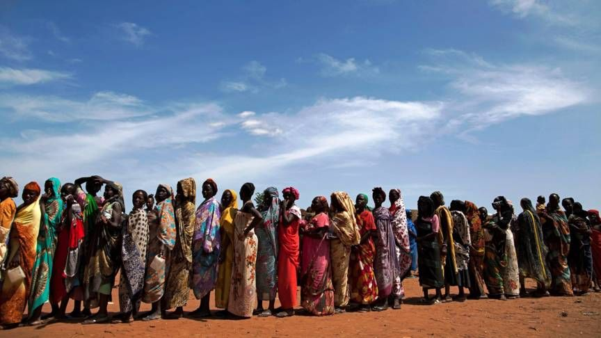 Vluchtelingen in Zuid-Soedan. Beeld: AFP.