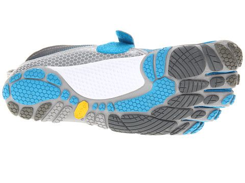 sports shoes 8d7d1 c3071 Vibram FiveFingers Bikila Blue Dark Grey Grey - 6pm.com