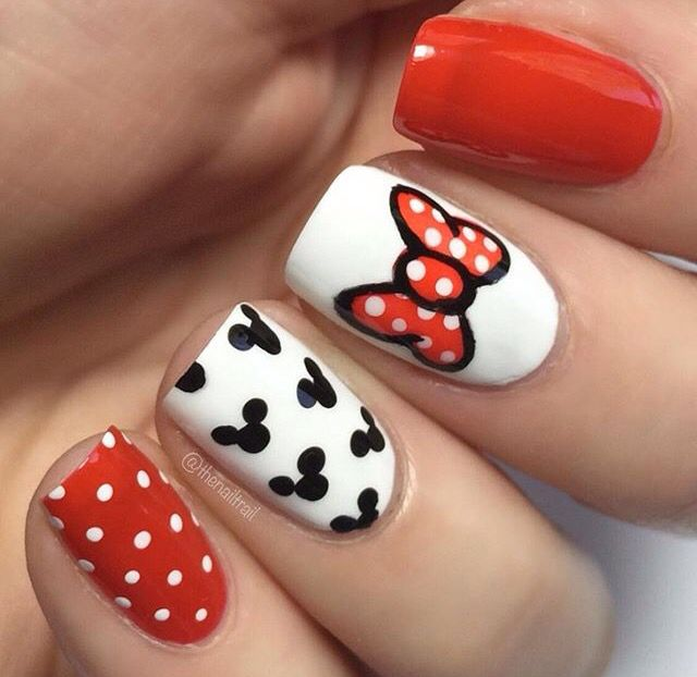 Minnie mouse nail art | Beauty, Hair, & Makeup Inspiration ...